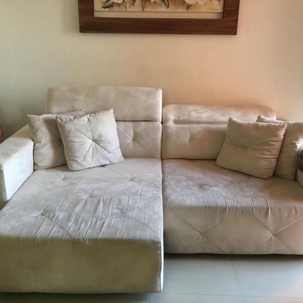 Sofá de alto padrão com 2 chaise longue retrátil,