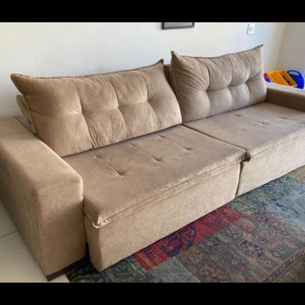 Sofá retrátil reclinável grande 3 metros