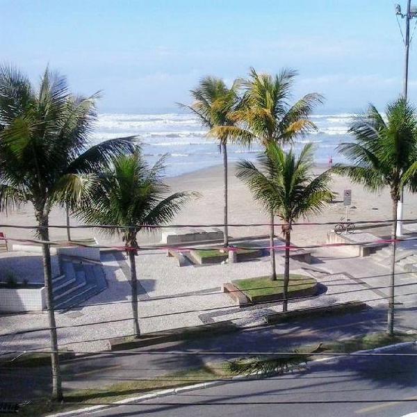 Apartamento 02 dorm- tupi praia grande frente mar permuta z