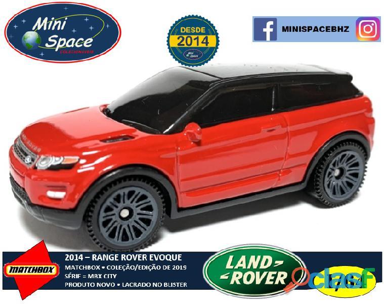 Matchbox 2014 range rover evoque cor vermelho 1/64