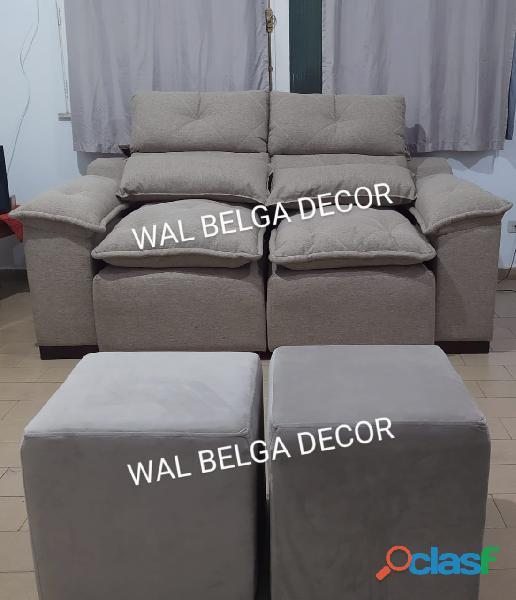Sofás retrátil e reclinável assento mola ensacadas