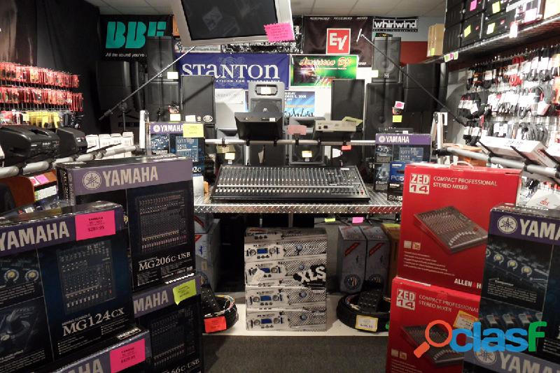 Novos mixers de áudio e dj