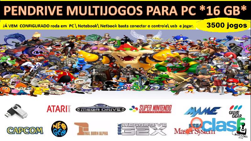 Pendrive multijogos com 3539 jogos (16gb) para pc\notebook