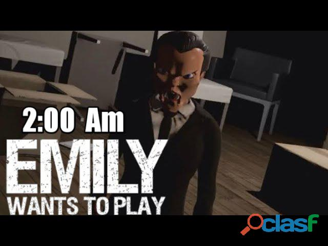 Emily wants to play   a família inteira.3:00