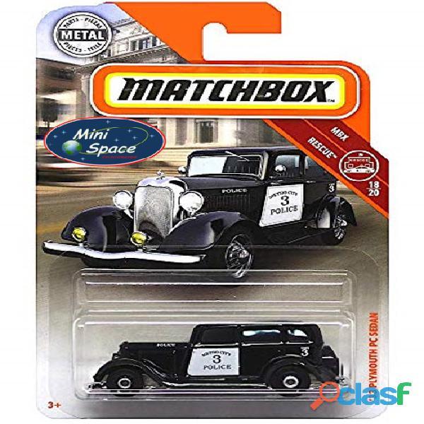 Matchbox 1933 Phymouth Sedan Preto Depto Polícia 1/64 1