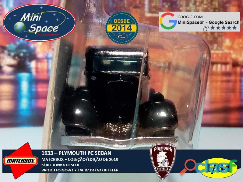 Matchbox 1933 Phymouth Sedan Preto Depto Polícia 1/64 5