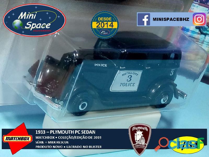 Matchbox 1933 Phymouth Sedan Preto Depto Polícia 1/64 7