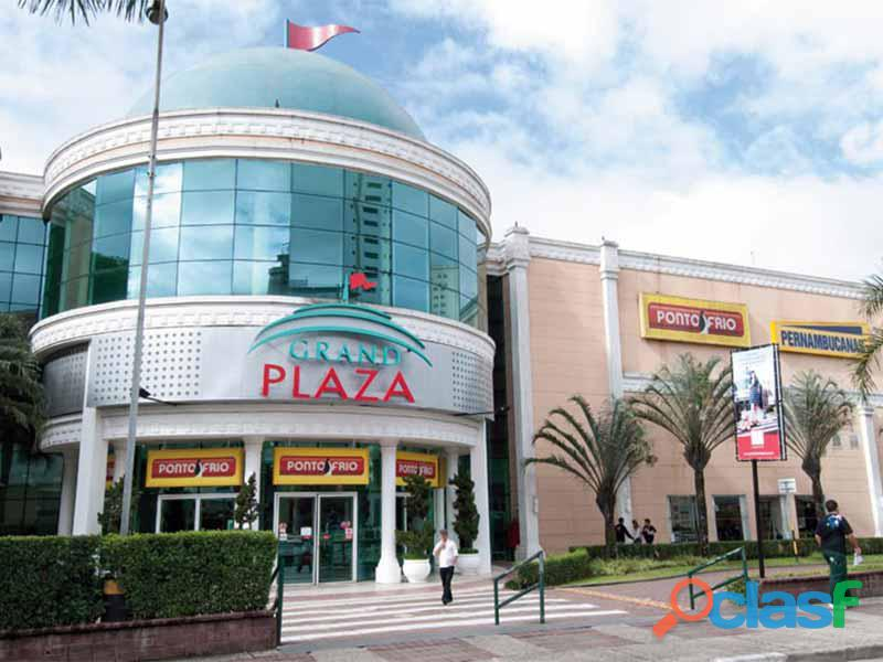 Ponto comercial reformado 49 m² no shopping grand plaza   santo andré.