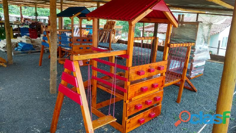 parquinho ( playground infantil de madeira ) 1