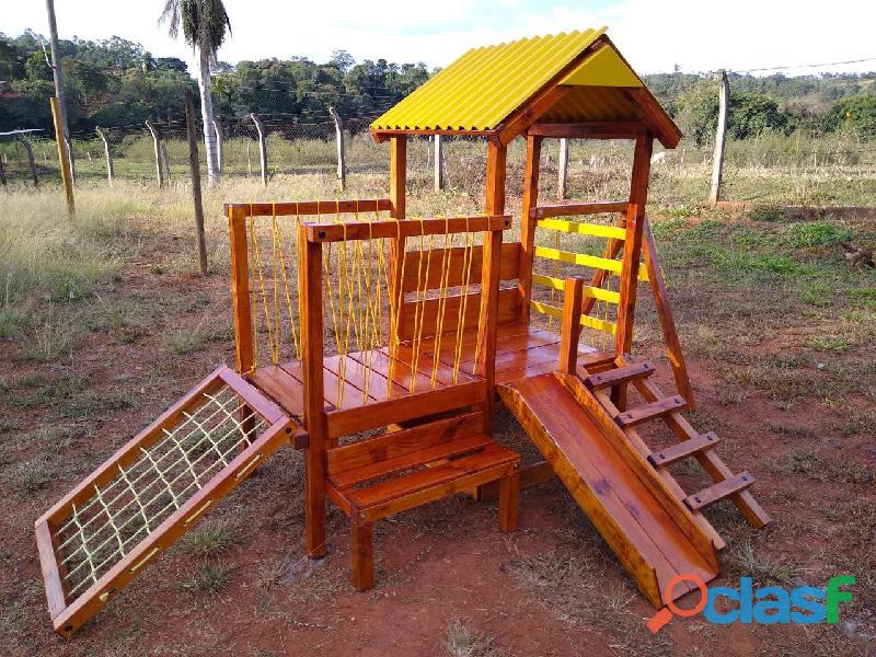 parquinho ( playground infantil de madeira ) 3