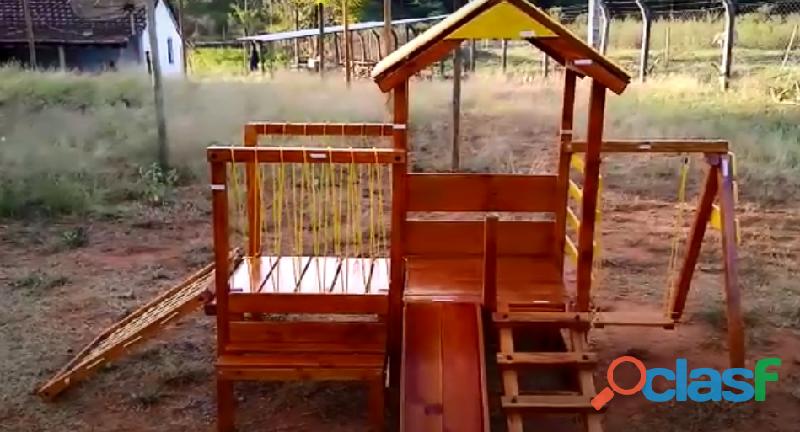 parquinho ( playground infantil de madeira ) 4