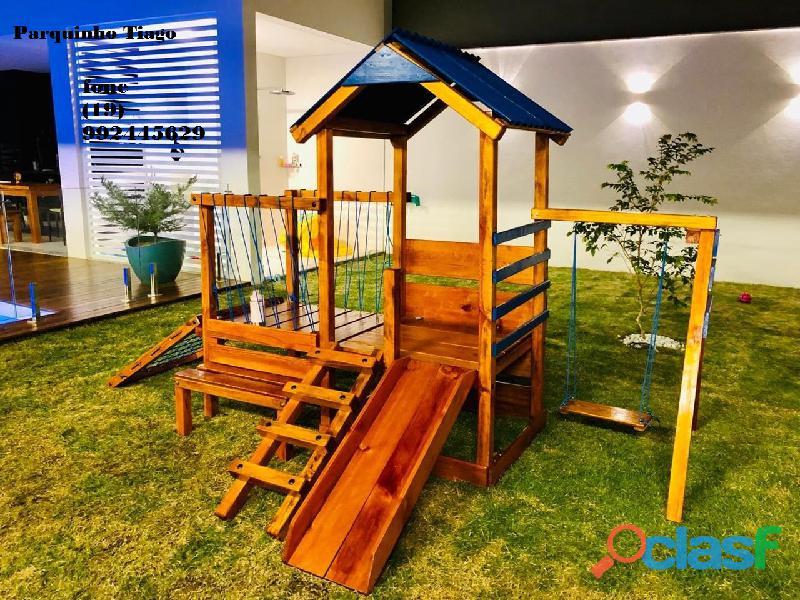 parquinho ( playground infantil de madeira ) 5