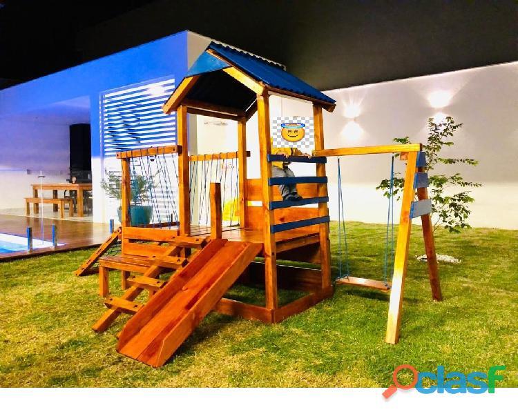 parquinho ( playground infantil de madeira ) 6