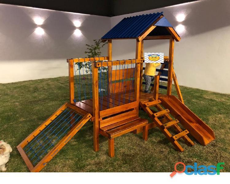 parquinho ( playground infantil de madeira ) 7