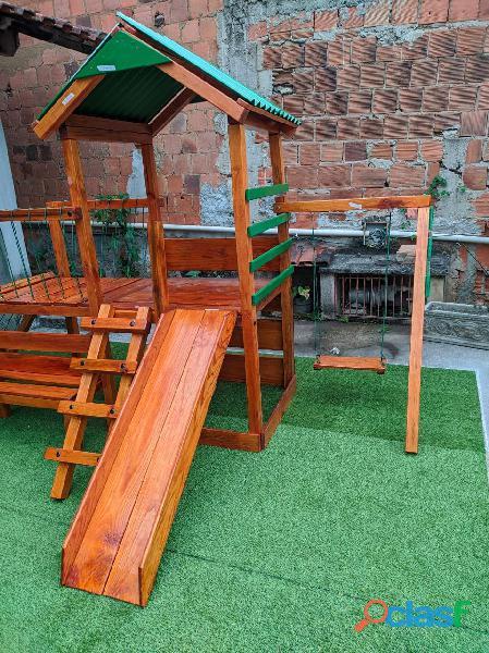 parquinho ( playground infantil de madeira ) 8