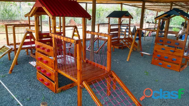 parquinho ( playground infantil de madeira ) 11