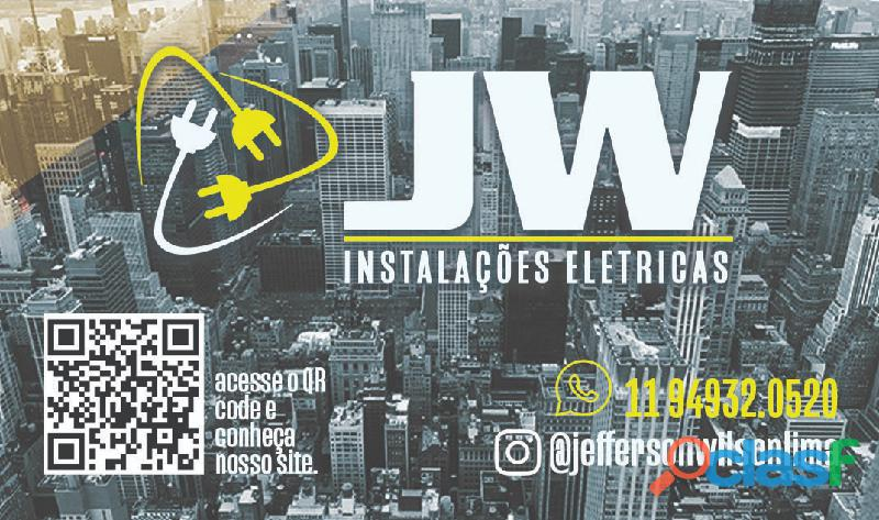 Eletricista residencial predial e comercial, jw instalações elétrica
