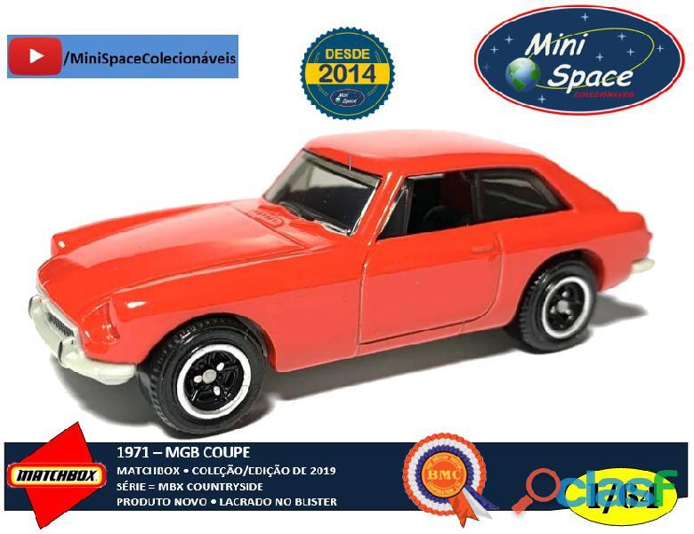 Matchbox 1971 mgb coupê cor vermelho 1/64