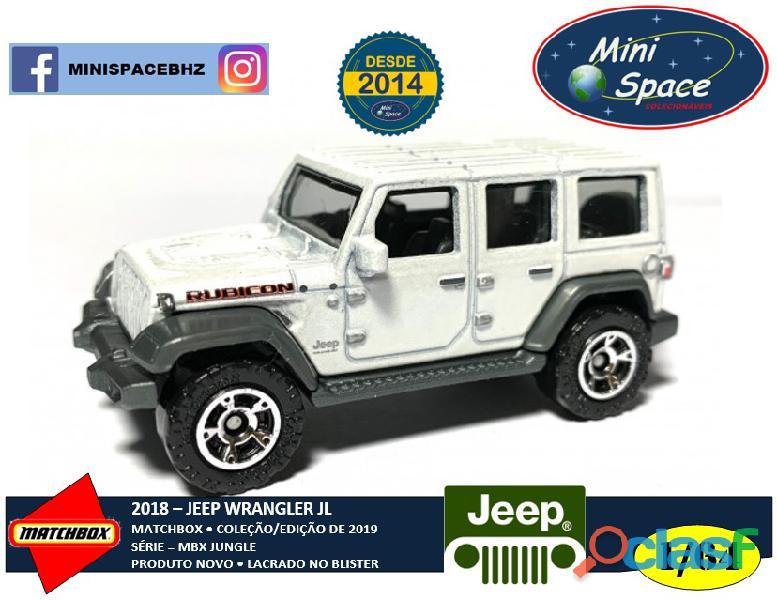 Matchbox 2018 jeep wrangler suv branco 1/64