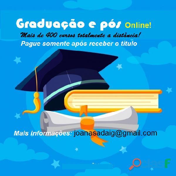 Cursos de graduação sem pagar antecipado