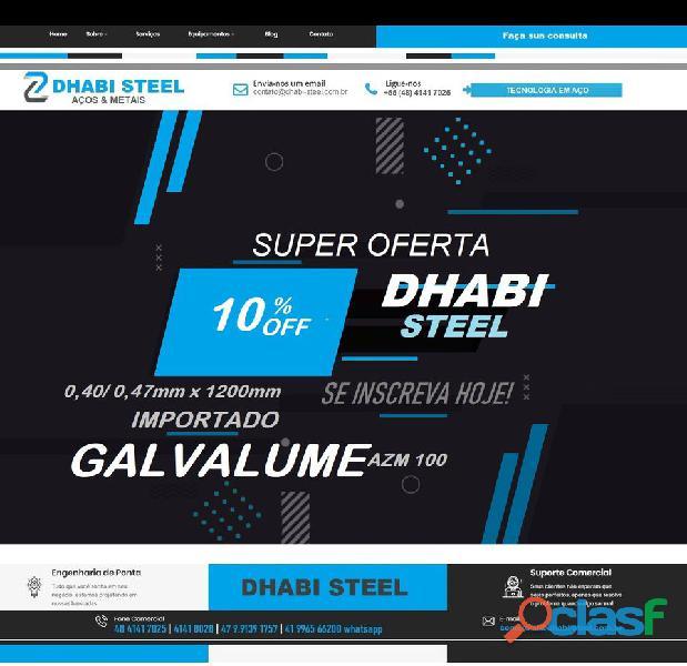 Somos especialistas em bobina de aço galvalume dhabi steel