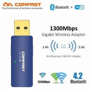 Adaptador usb wifi ac com bluetooth 4.2