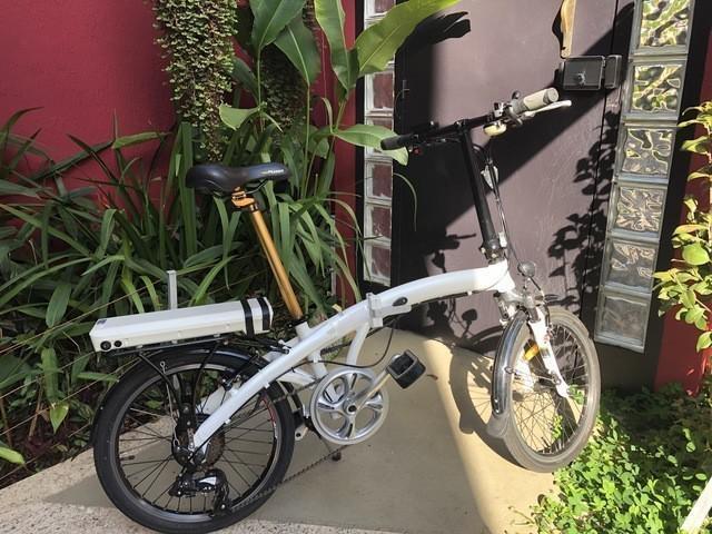Bicicleta elétrica dobrável cycletech