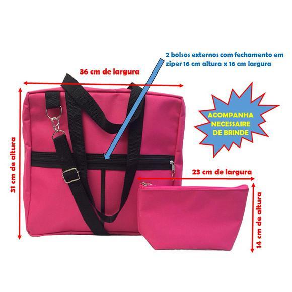 Bolsa esmaltes manicure até 120 frascos cor rosa promoção