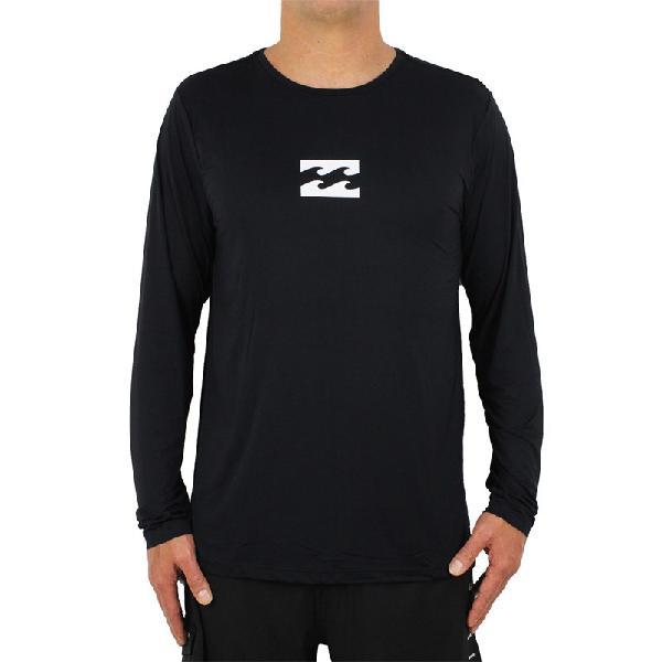 Camiseta billabong all day wave manga longa black - surf