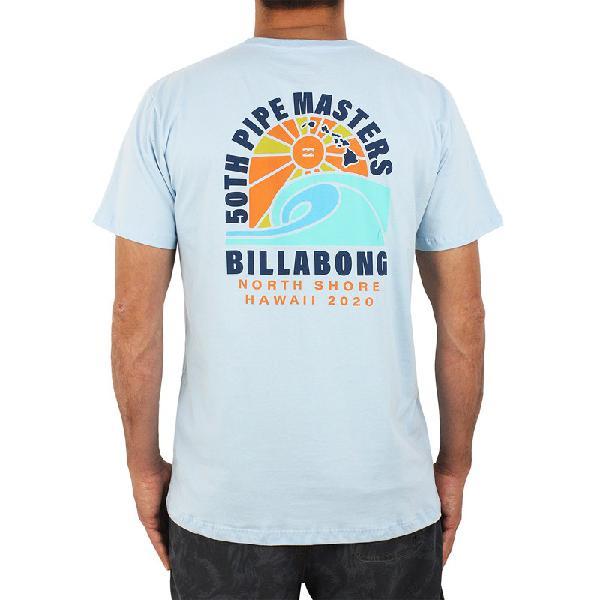 Camiseta billabong pipe masters wave azul claro - surf alive