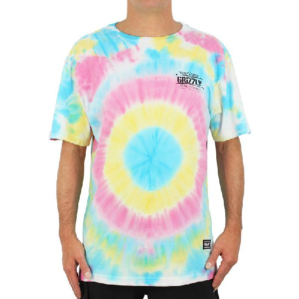 Camiseta grizzly outdoor equip tie dye multi - surf alive