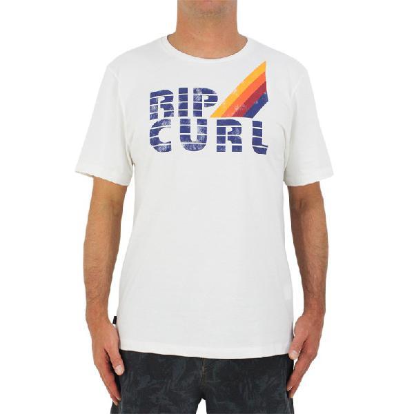 Camiseta rip curl surf revival crew bone - surf alive