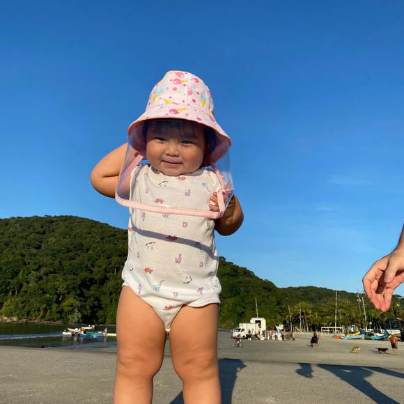 Chapéu escudo protetor facial infantil - mascara de