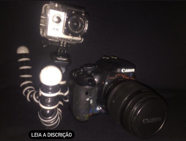Câmera canom t3i, câmera sports action 4k wi-fi, suporte