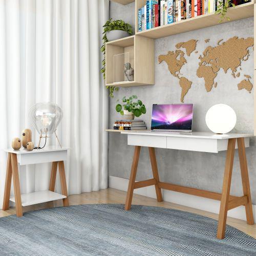 Escrivaninha cavalete e mesa lateral cavalete am/u00eandoa