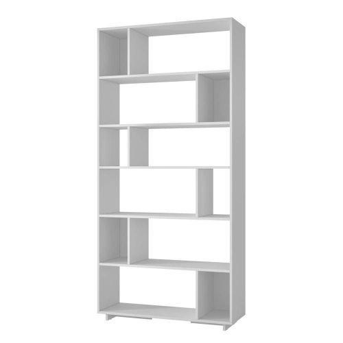 Livreiro estante painel rubi branco - lyam decor