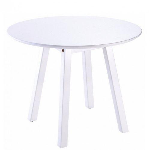Mesa lateral de madeira oval p tramontina branco