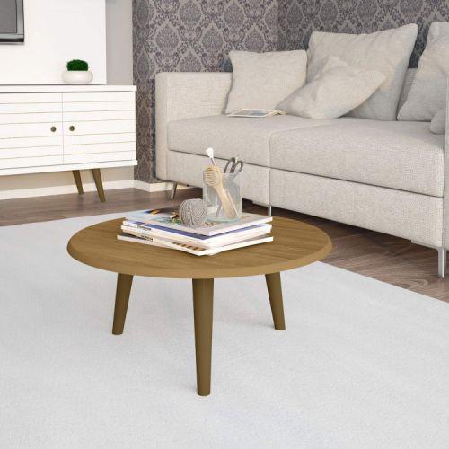 Mesa de centro redonda retr/u00f4 brilhante decor