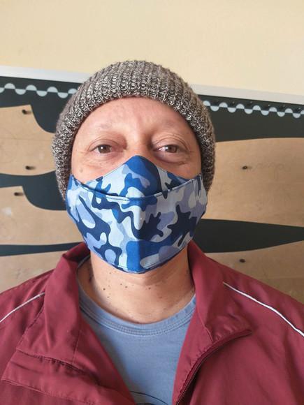 Máscara 3d canoa em tecido