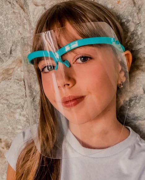 Máscara infantil de proteção facial - máscara face