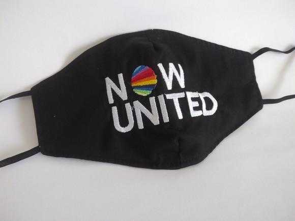 Máscara de proteção bordada now united