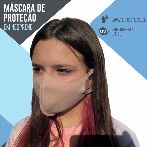 Máscara de tecido neoprene proteção modelo ninja - cor