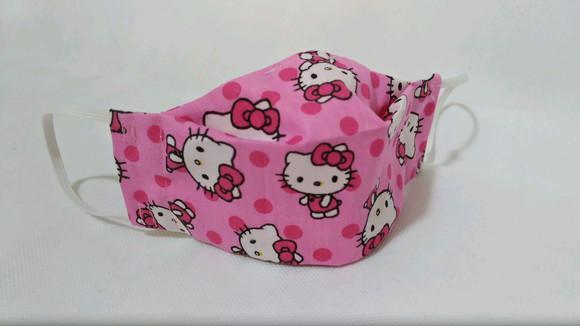 Máscara de proteção 3d infantil p - hello kitty rosa