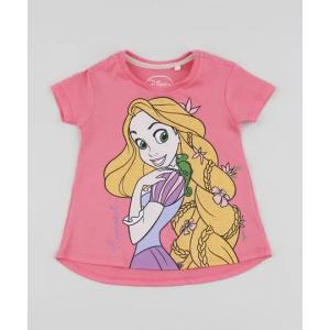 Parcelado] blusa infantil rapunzel manga curta rosa <div