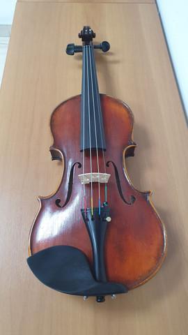 Violino 7/8 artesanal + espaleira kun