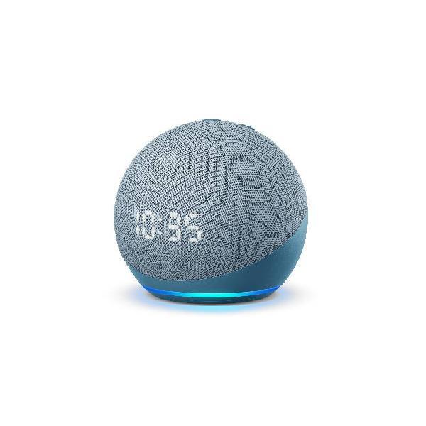 Echo dot 4ª geração smart speaker com relógio e alexa -