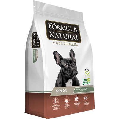 Ração fórmula natural cães sênior porte mini e pequeno