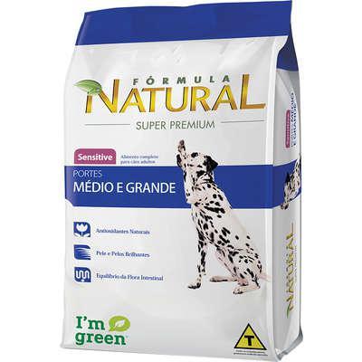 Ração fórmula natural sensitive para cães de porte