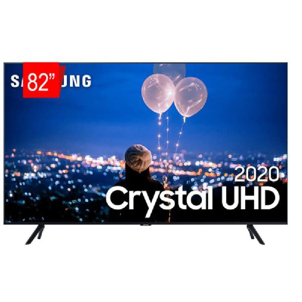"Tv 82"" samsung smart tv crystal uhd 4k u8000 borda ultrafina"