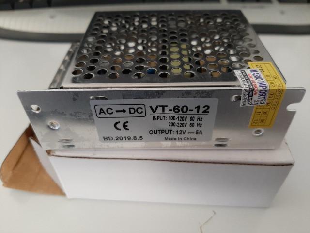 Fonte 12 volts 5 amperes nova